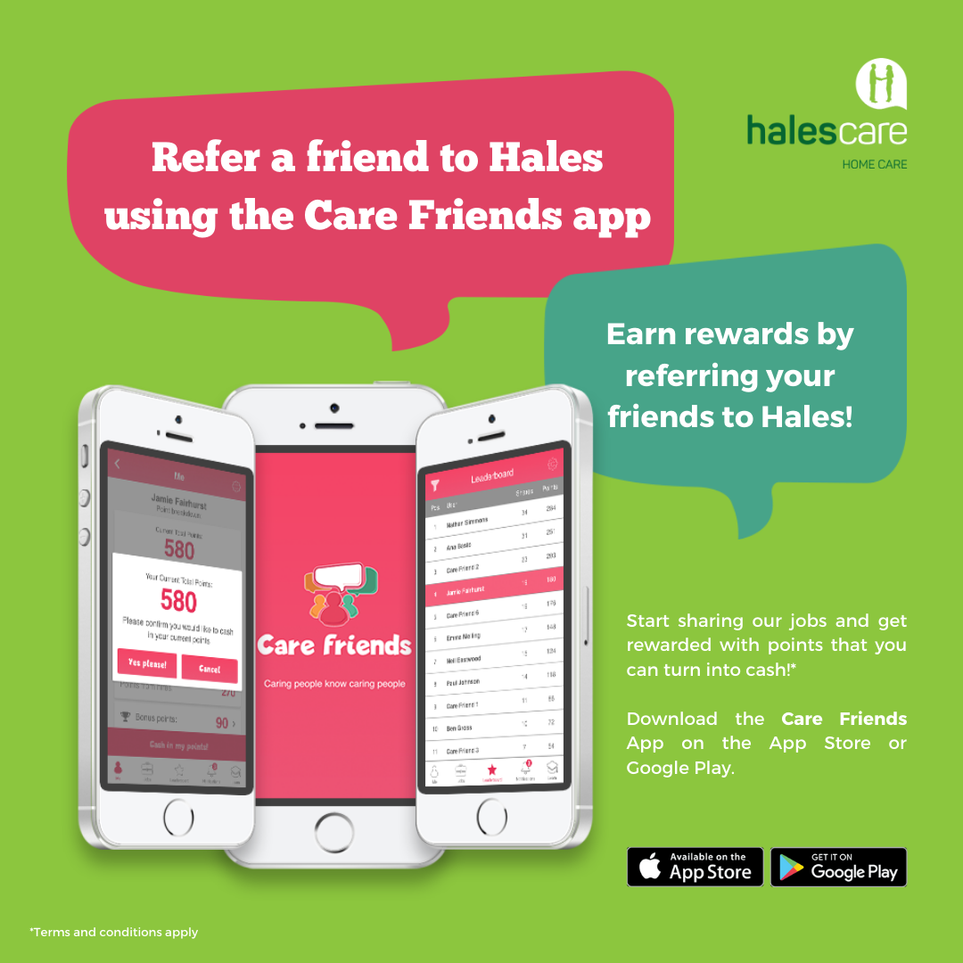 hales homecare care friends app